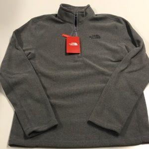 🆕 The North Face Mens Small Gray 1/4 Zip Fleece